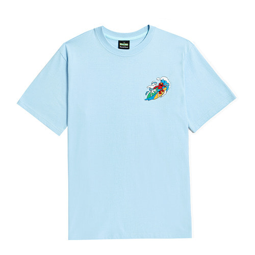 [B.C X S.S]BEYOND STREET SUMMER VACATION 1/2 T-SHIRTS BLUE