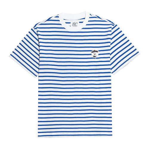 ILP MARINE DOG STRIPE 1/2 T-SHIRTS BLUE