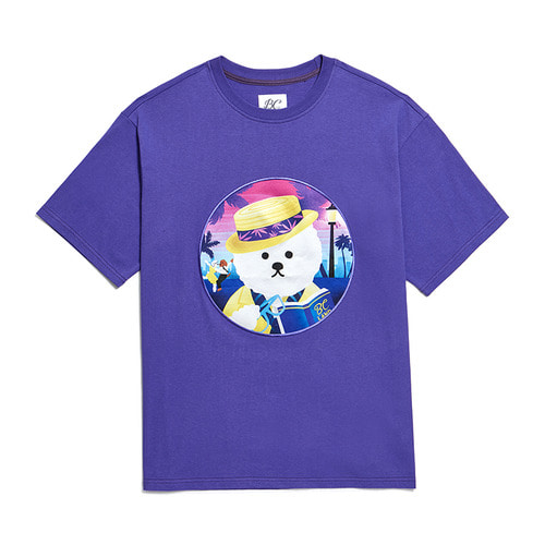 LALA DOG PATCH 1/2 T-SHIRTS 2019VER PURPLE