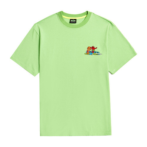[B.C X S.S]BEYOND STREET SUMMER VACATION 1/2 T-SHIRTS LIME