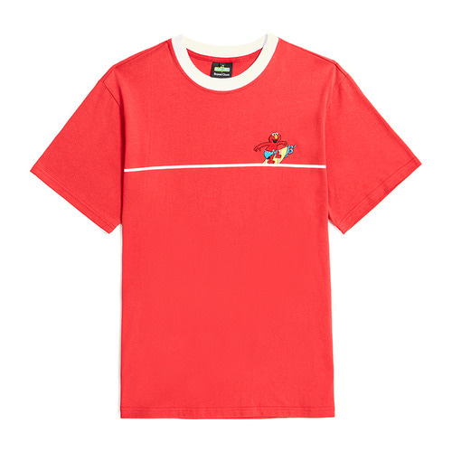 [B.C X S.S]SURFING ELMO 1/2 T-SHIRTS RED