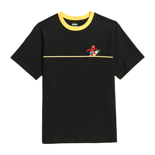 [B.C X S.S]SURFING ELMO 1/2 T-SHIRTS BLACK