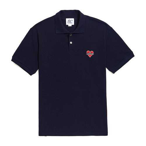 NOMANTIC CLASSIC PK COLLAR 1/2 T-SHIRTS NAVY