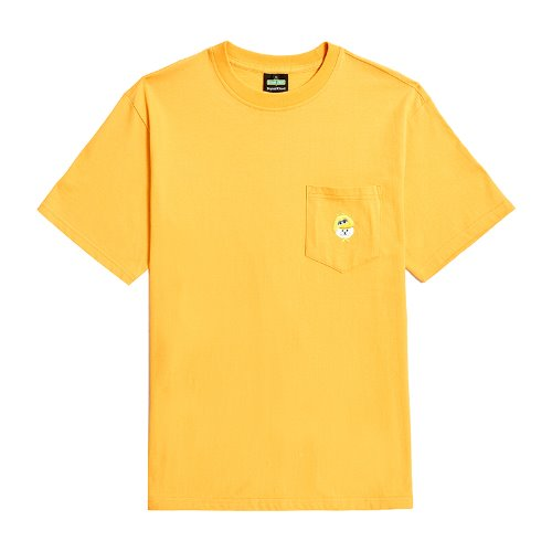 [B.C X S.S]SIGNATURE LOGO POCKET 1/2 T-SHIRTS YELLOW