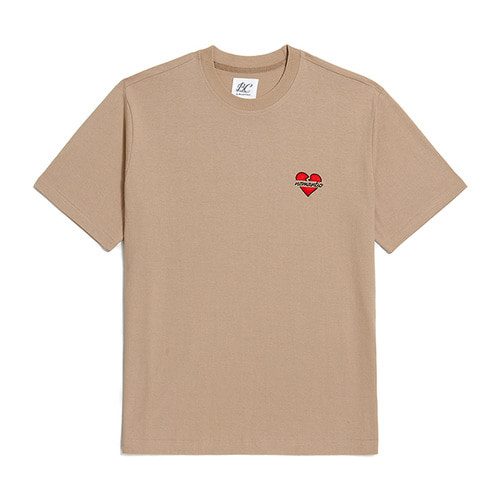 NOMANTIC SIGNATURE LOGO 1/2 T-SHIRTS BEIGE