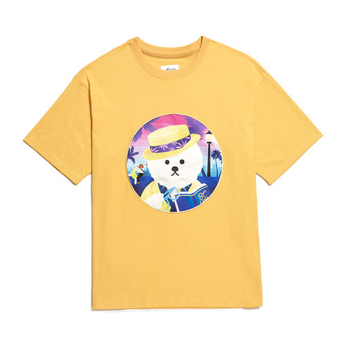 LALA DOG PATCH 1/2 T-SHIRTS 2019VER YELLOW