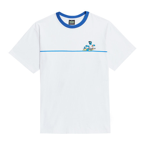 [B.C X S.S]SURFING COOKIE MONSTER 1/2 T-SHIRTS WHITE