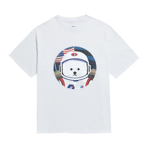 [RE-EDITION]APOLLO DOG PATCH 1/2 T-SHIRTS WHITE