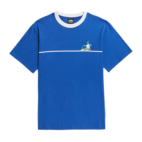 [B.C X S.S]SURFING COOKIE MONSTER 1/2 T-SHIRTS BLUE