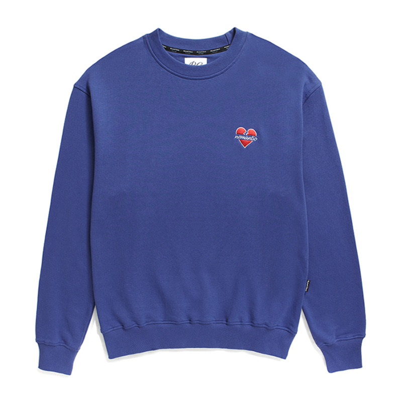 NOMANTIC SIGNATURE LOGO SWEAT-SHIRTS BLUE