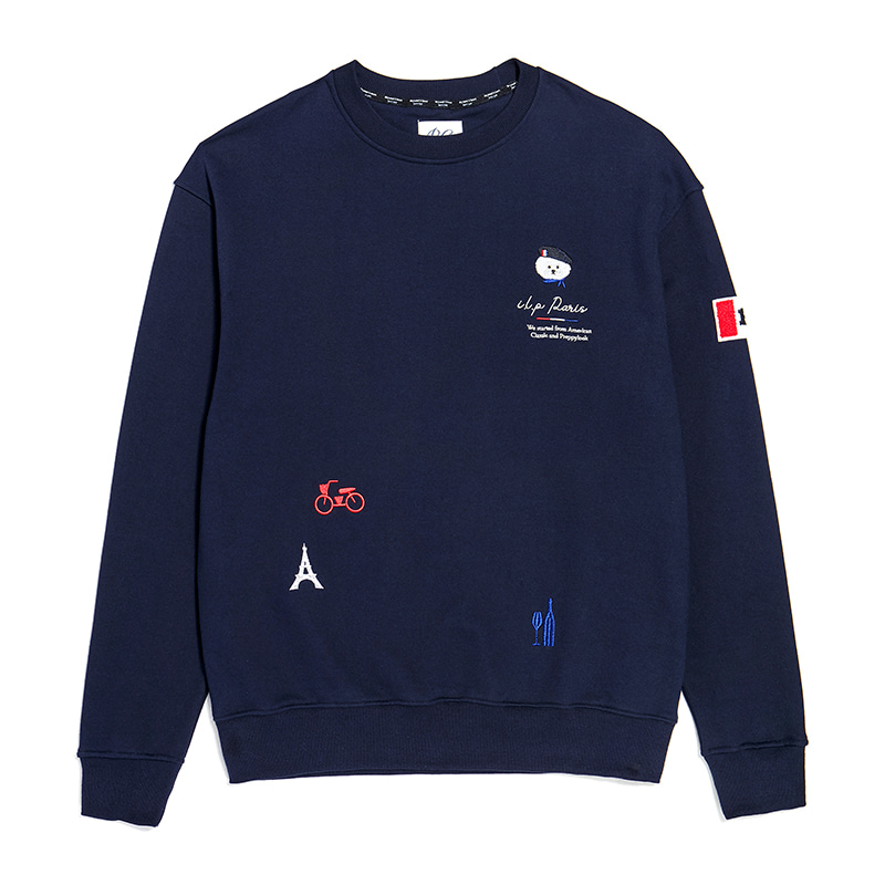 ILP PARIS THEME TRICOLOUR SWEAT-SHIRTS NAVY