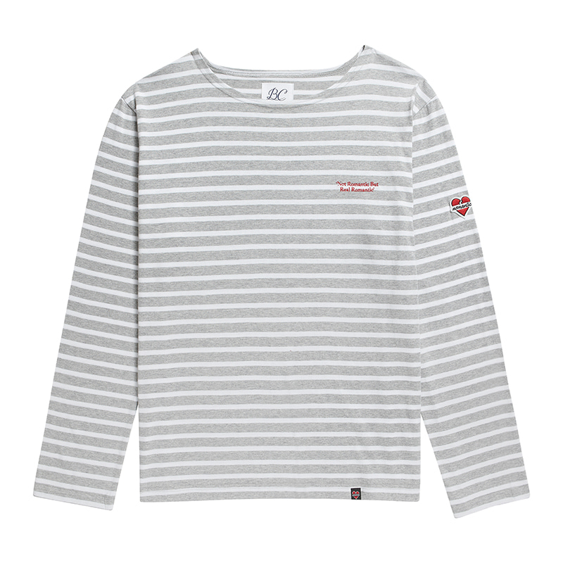 NOMANTIC BASIC STRIPE T-SHIRTS GRAY