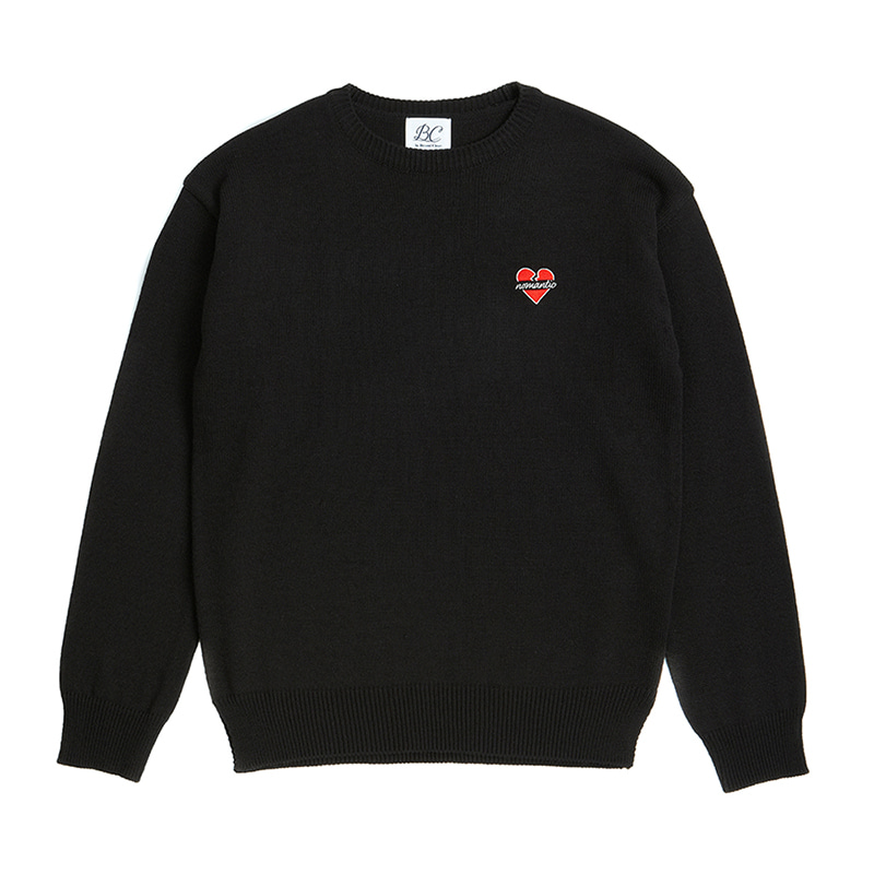 NOMANTIC LOGO BASIC KNIT BLACK