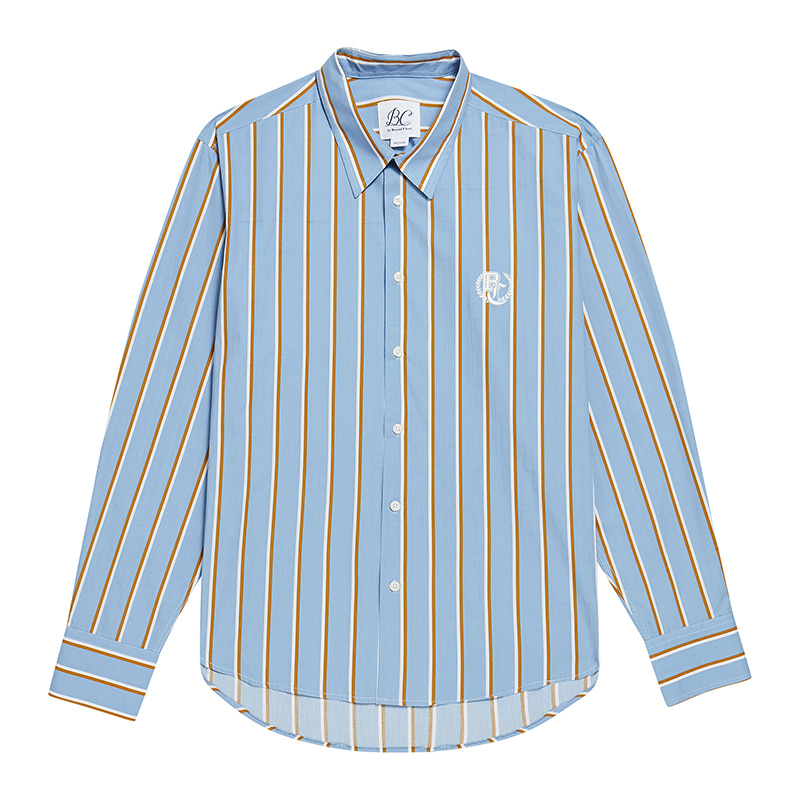BC PREPPY LOGO MULTI STRIPE SHIRTS BLUE
