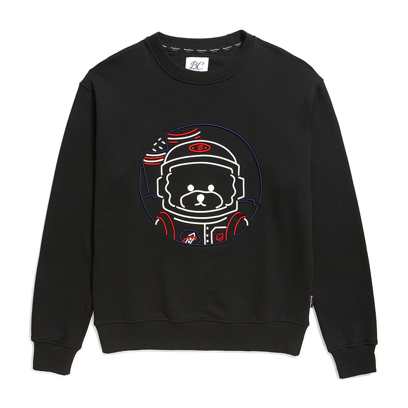 [RE-EDITION]APOLLO 3D LINE DOG SWEAT-SHIRTS BLACK