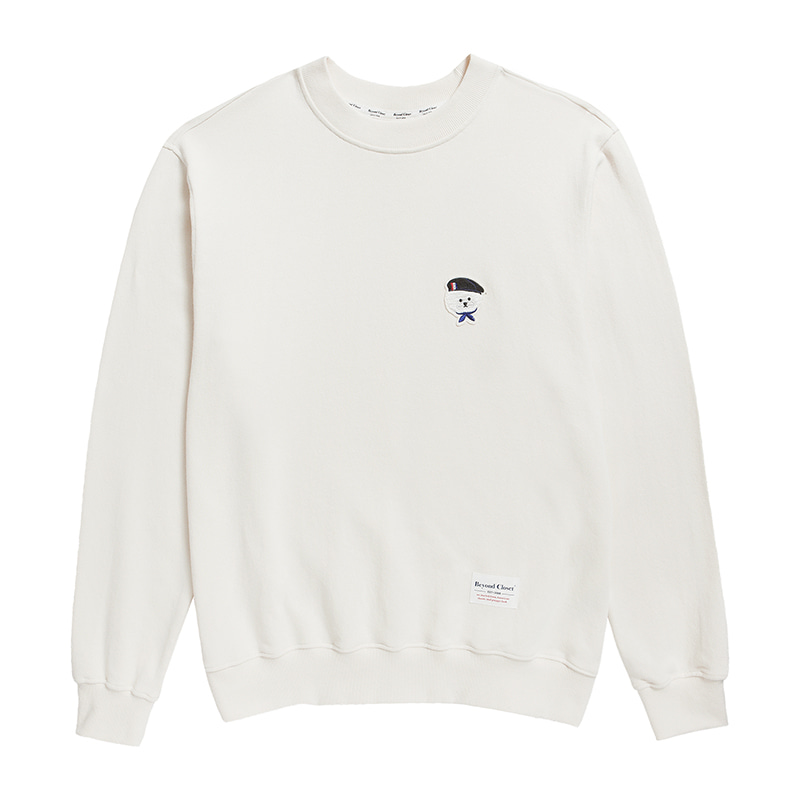 ILP SIGNATURE PARIS LOGO SWEAT-SHIRTS 2019FW CREAM