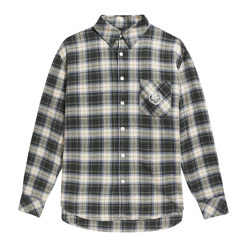 BC PREPPY LOGO CHECK SHIRTS GREEN