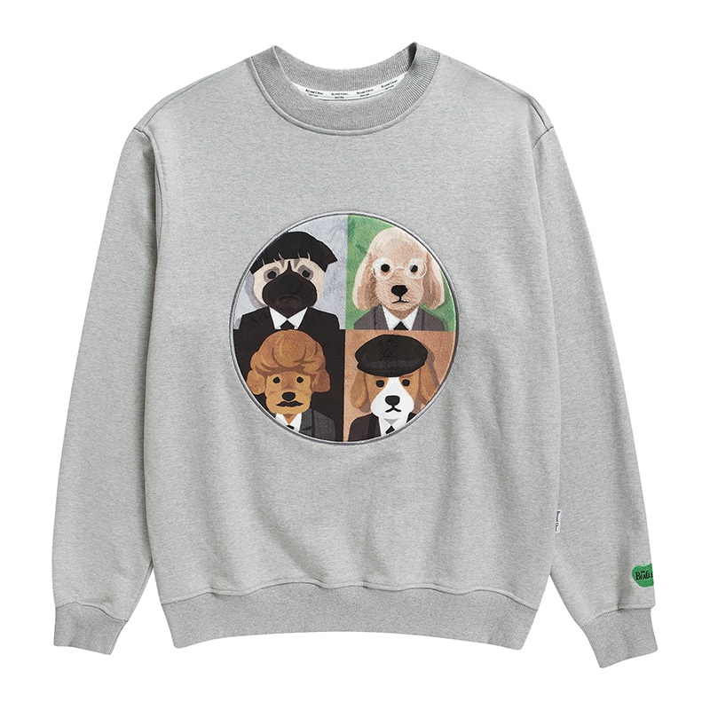ILP UK BAND DOG PATCH SWEAT-SHIRTS GRAY