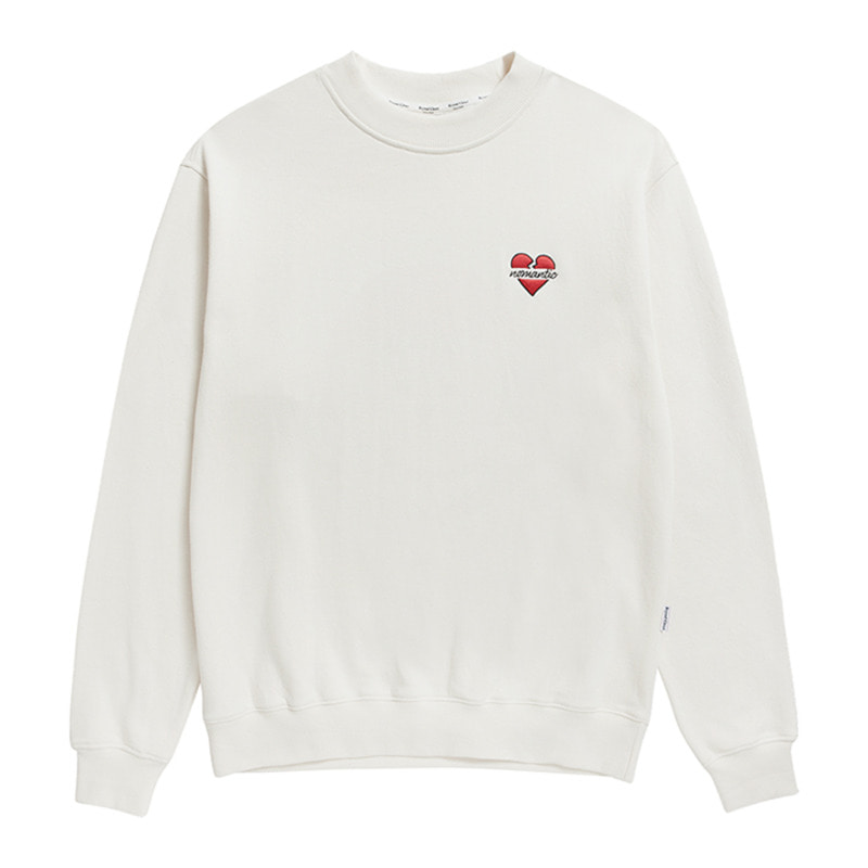 NOMANTIC SIGNATURE LOGO SWEAT-SHIRTS IVORY