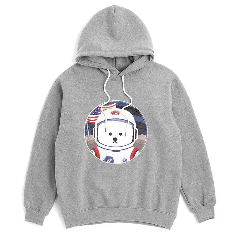 [RE-EDITION]APOLLO DOG PATCH HOOD T-SHIRTS 2019FW GRAY
