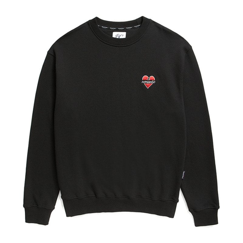 NOMANTIC SIGNATURE LOGO SWEAT-SHIRTS BLACK