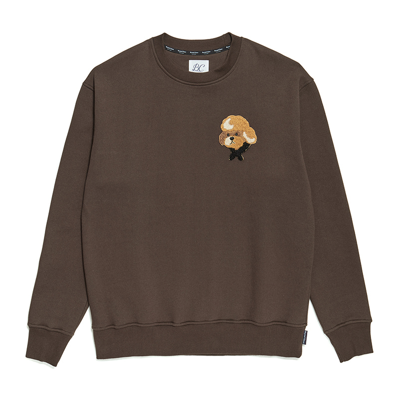 [기모]ILP HQ WAPPEN SWEAT-SHIRTS 2019FW BROWN