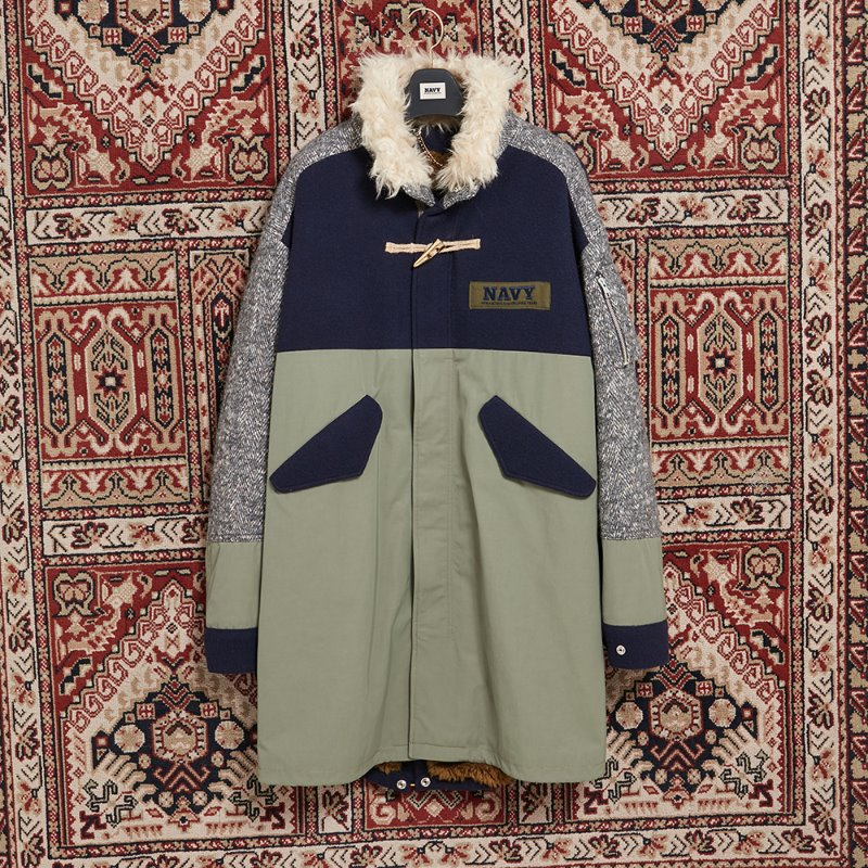 [10ARCHIVE]HIGH-TECH MIX FISH TAIL JUMPER KHAKI