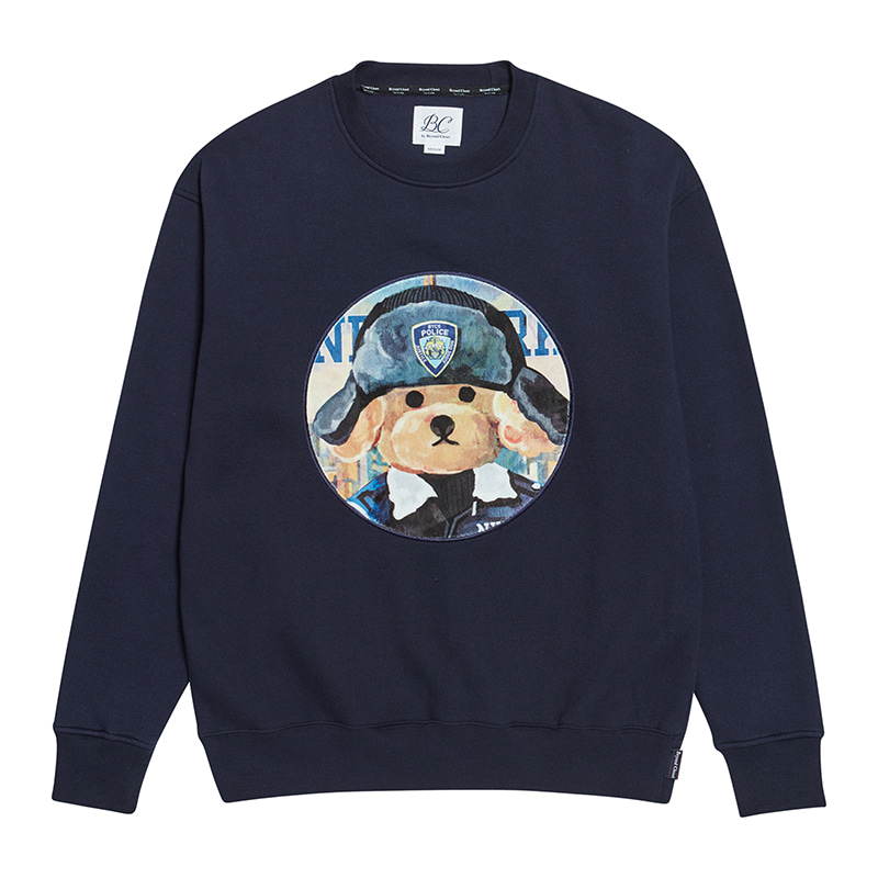 [기모]ILP NYPD DOG PATCH SWEAT-SHIRTS NAVY