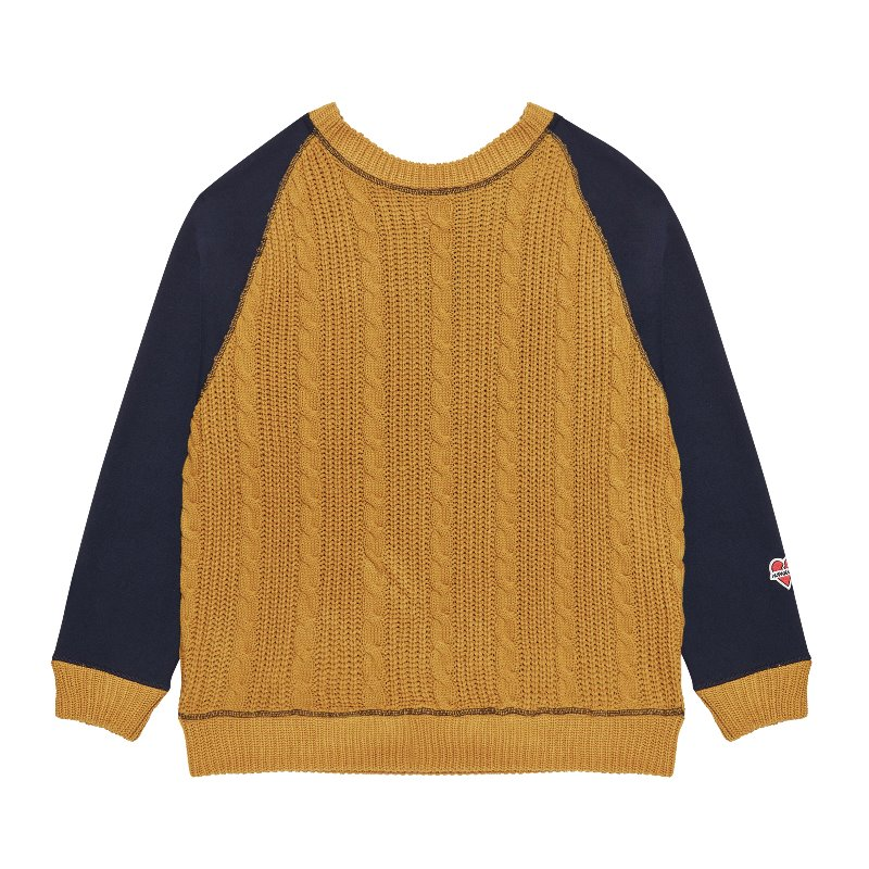 NOMANTIC DOUBLE-SIDED KNIT SWEAT-SHIRTS YELLOW