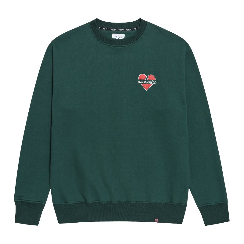 [기모]NOMANTIC SIGNATURE LOGO SWEAT-SHIRTS GREEN