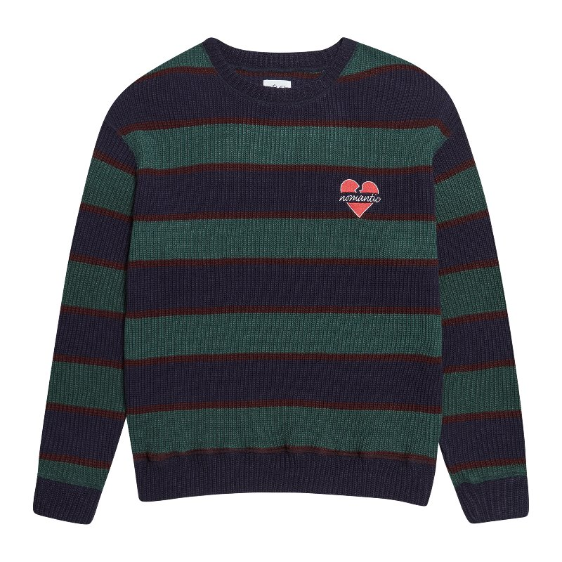NOMANTIC MULTI STRIPE KNIT NAVY