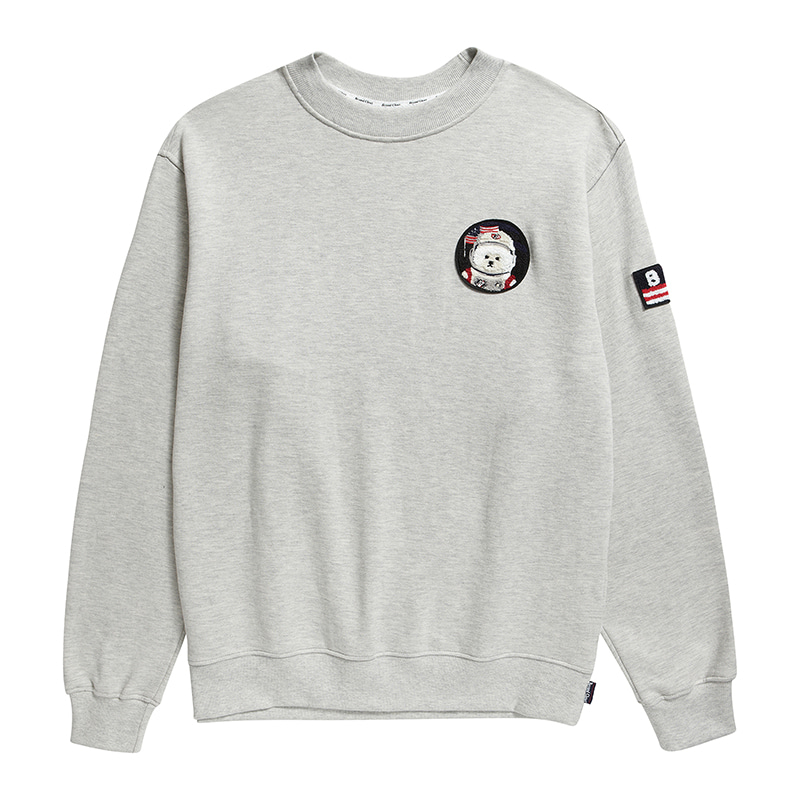 [기모][RE-EDITION]APOLLO W-WAPPEN SWEAT-SHIRTS 2019FW GRAY