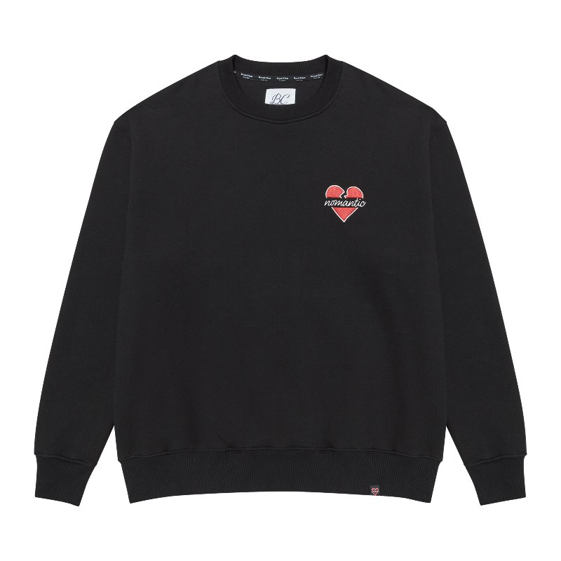 [기모]NOMANTIC SIGNATURE LOGO SWEAT-SHIRTS BLACK