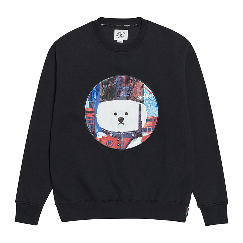 [기모]ILP UK PALACE GUARD DOG PATCH SWEAT-SHIRTS BLACK