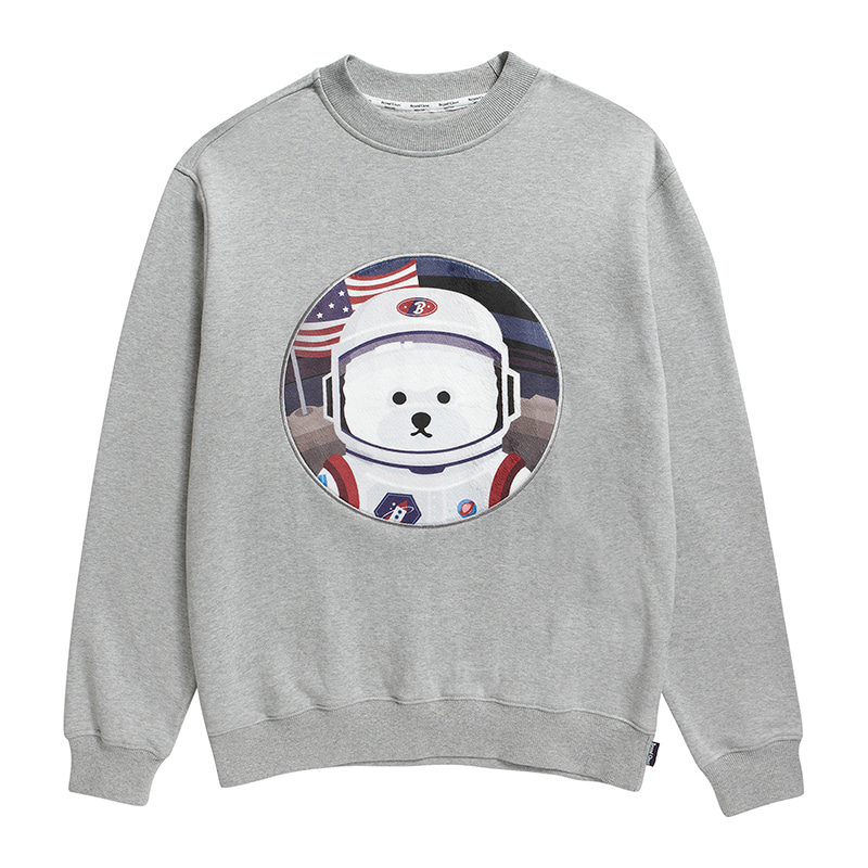 [기모][RE-EDITION]APOLLO DOG PATCH SWEAT-SHIRTS 2019FW GRAY