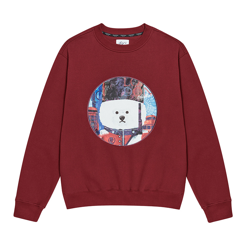 [기모]ILP UK PALACE GUARD DOG PATCH SWEAT-SHIRTS RED