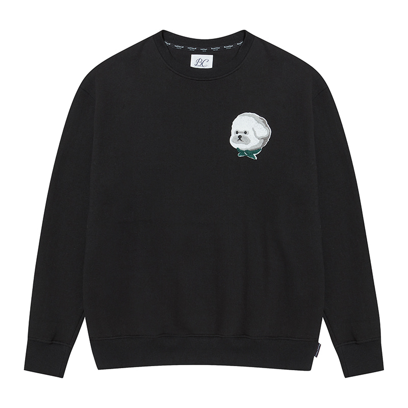 [기모]ILP HQ WAPPEN SWEAT-SHIRTS 2019FW BLACK