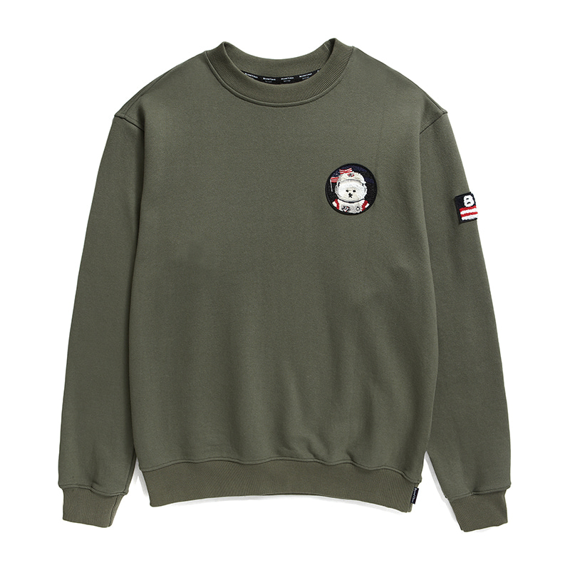 [기모][RE-EDITION]APOLLO W-WAPPEN SWEAT-SHIRTS 2019FW KHAKI