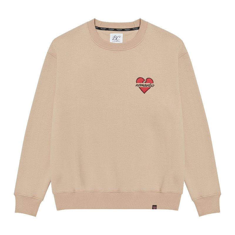 [기모]NOMANTIC SIGNATURE LOGO SWEAT-SHIRTS BEIGE
