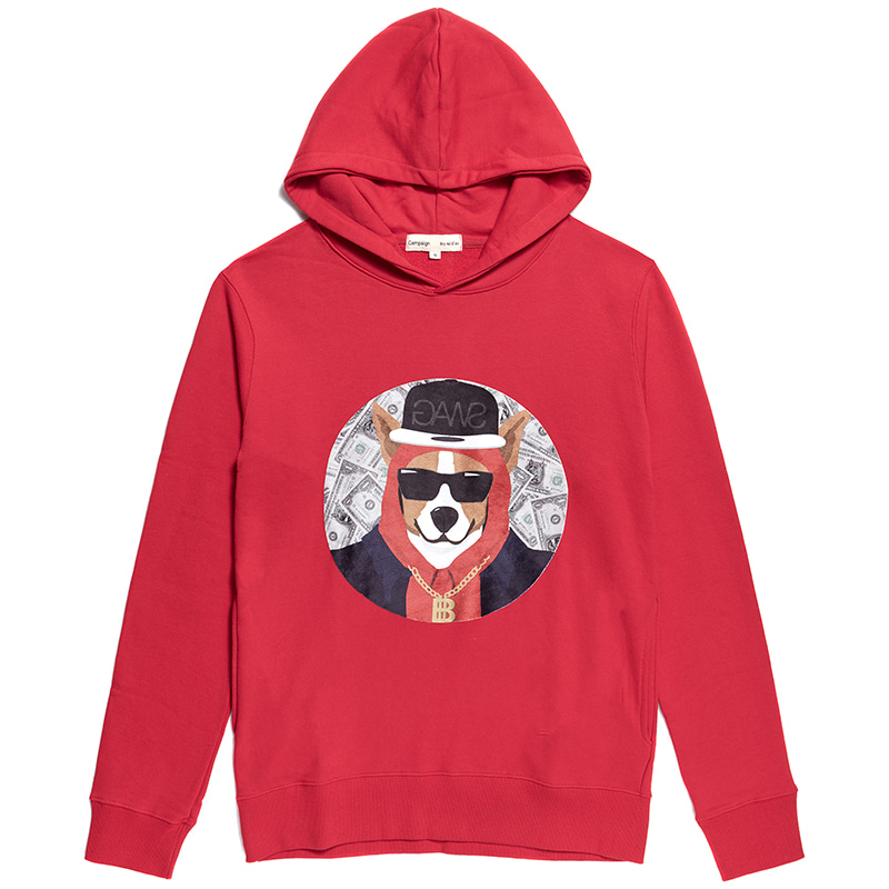 SWAG PATCH DOG HOOD RED