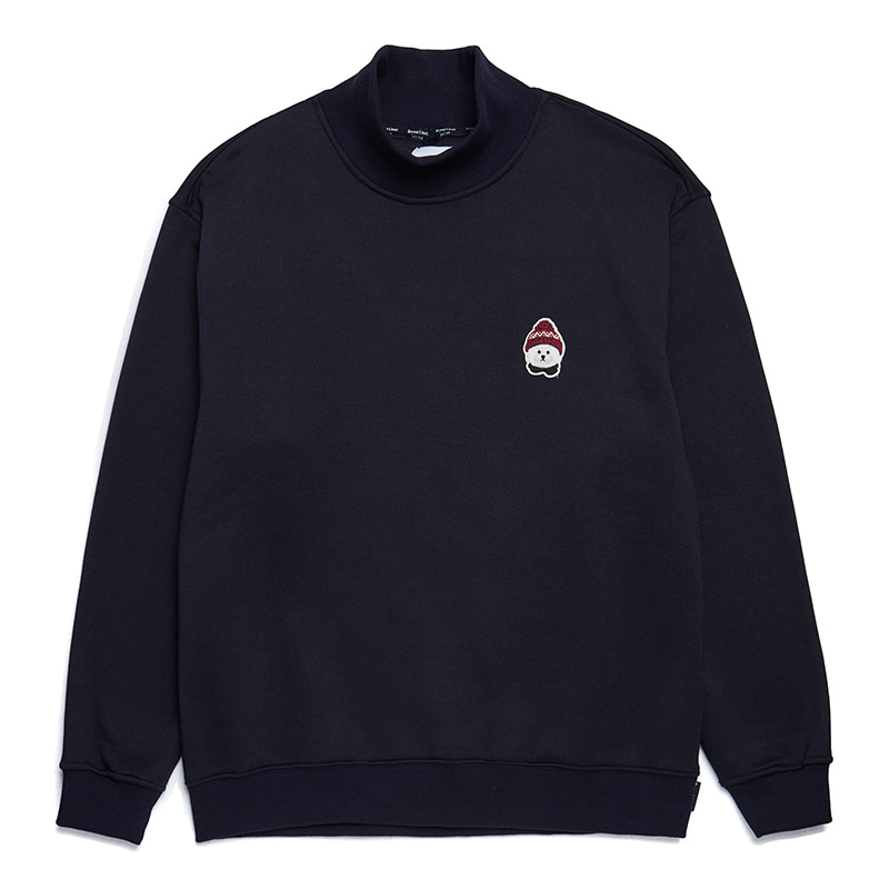 [HOLIDAY EDITION]ILP W-SIGNATURE HALF TURTLE-NECK T-SHIRTS NAVY