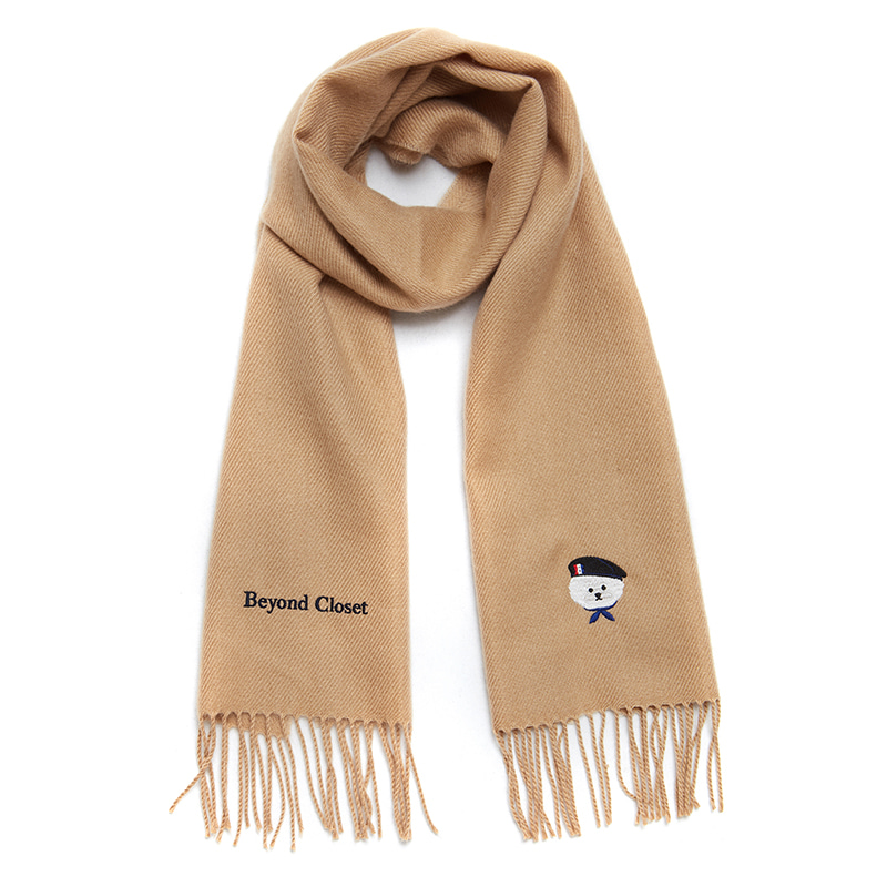 [HOLIDAY EDITION]ILP SIGNATURE PARIS LOGO MUFFLER BEIGE