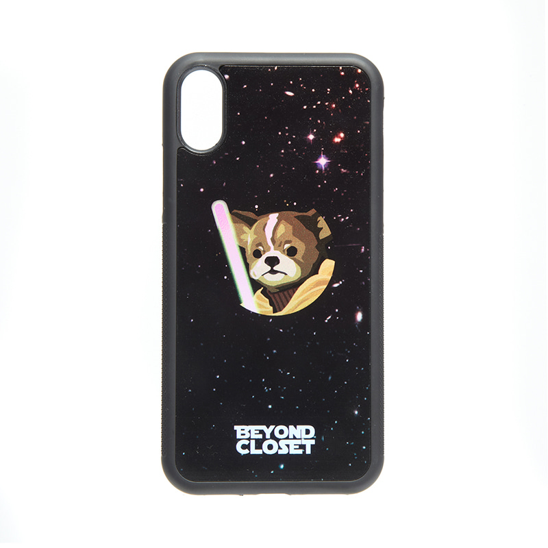 SPACE MOVIE MONSTER DOG PHONE CASE BLACK