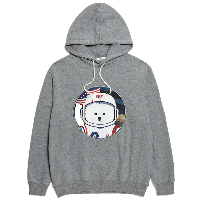 [RE-EDITION]APOLLO DOG PATCH HOOD T-SHIRTS 2020SS GRAY