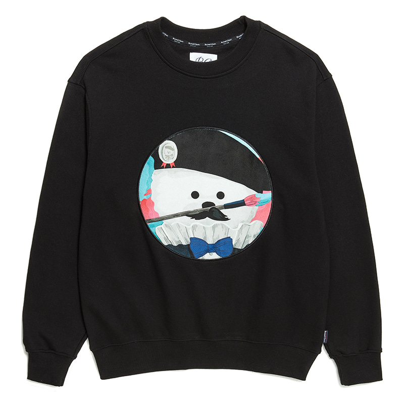 ILP KLEIN ART DOG PATCH SWEAT-SHIRTS BLACK