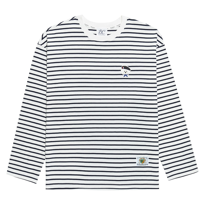 ILP PARISIEN DOG STRIPE T-SHIRTS WHITE