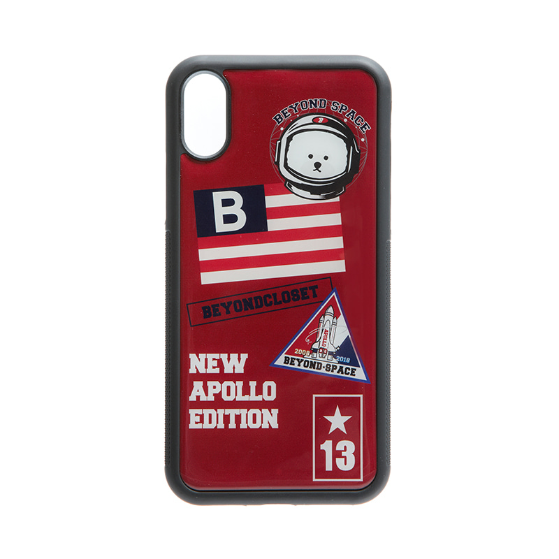 NEW APOLLO PATCHWORK PHONE CASE RED