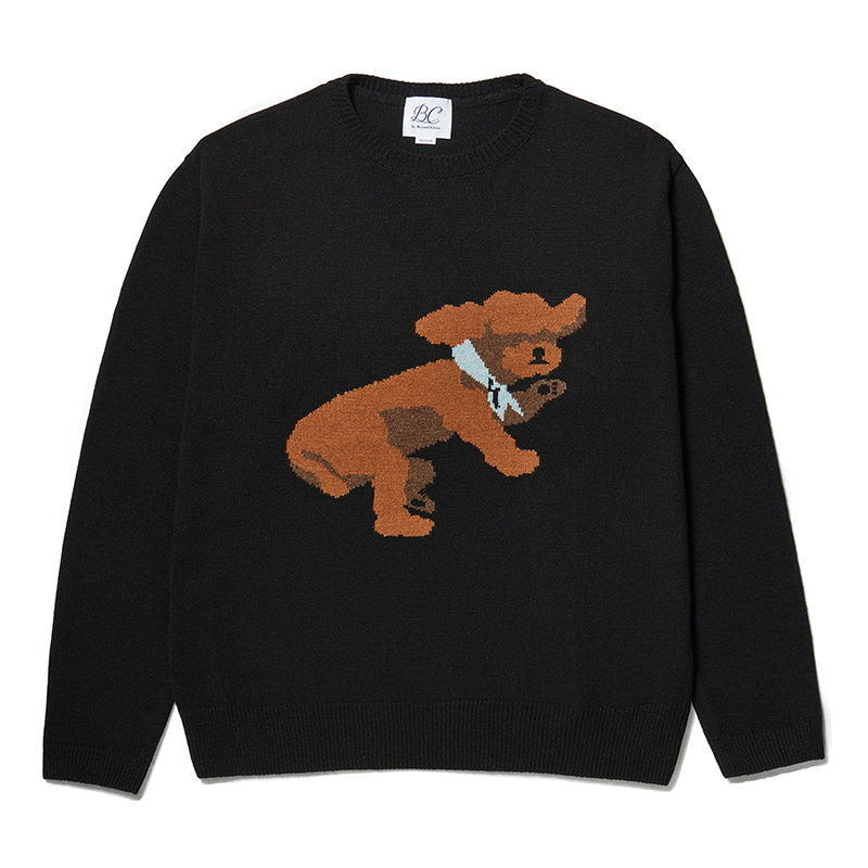 ILP DOG DAYS JACQUARD WOOL KNIT BLACK