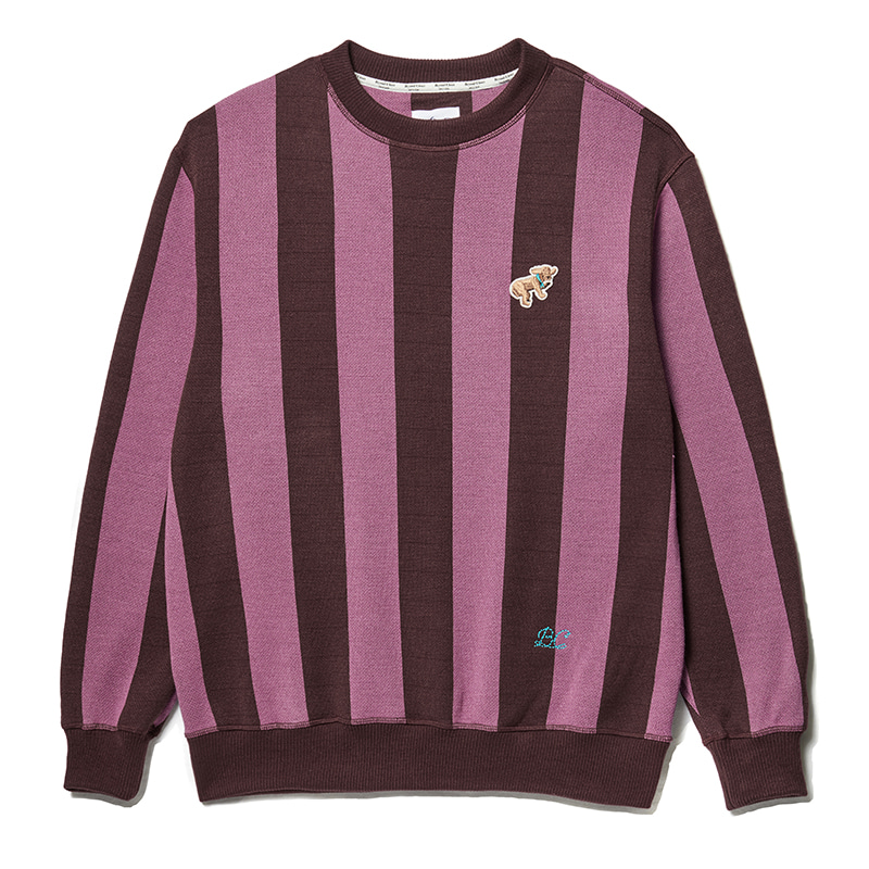 ILP DOG DAYS IVY STRIPE KNIT CASIS PURPLE
