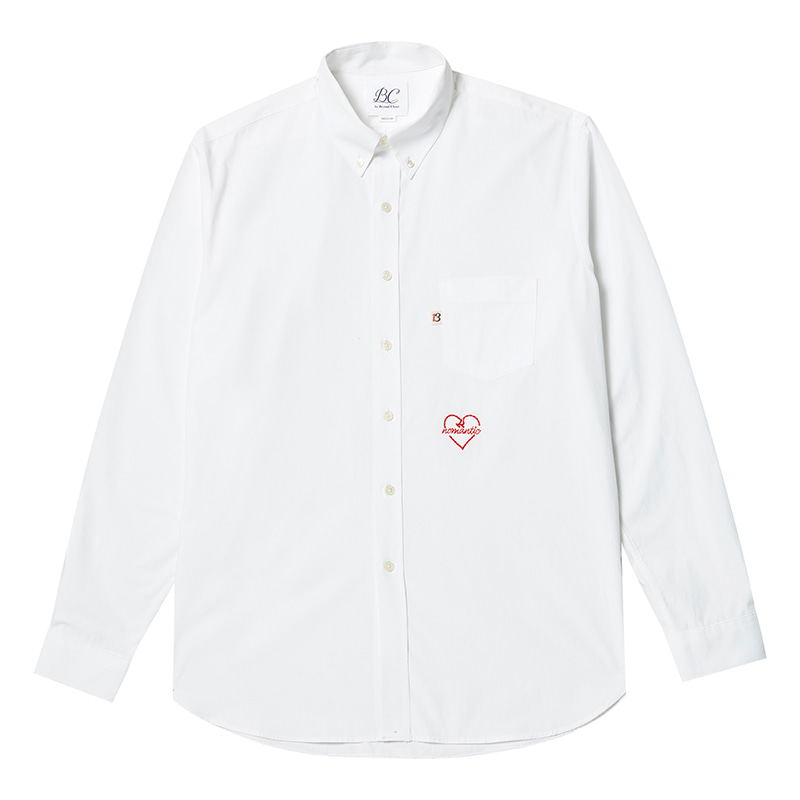 NOMANTIC CLASSIC LOGO 40s COTTON SHIRTS WHITE